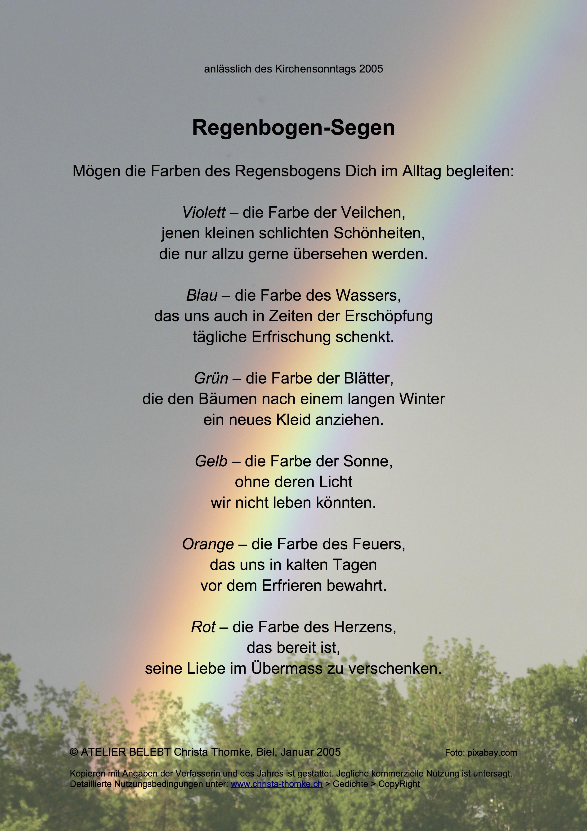 Regenbogen-Segen / @ Christa Thomke
